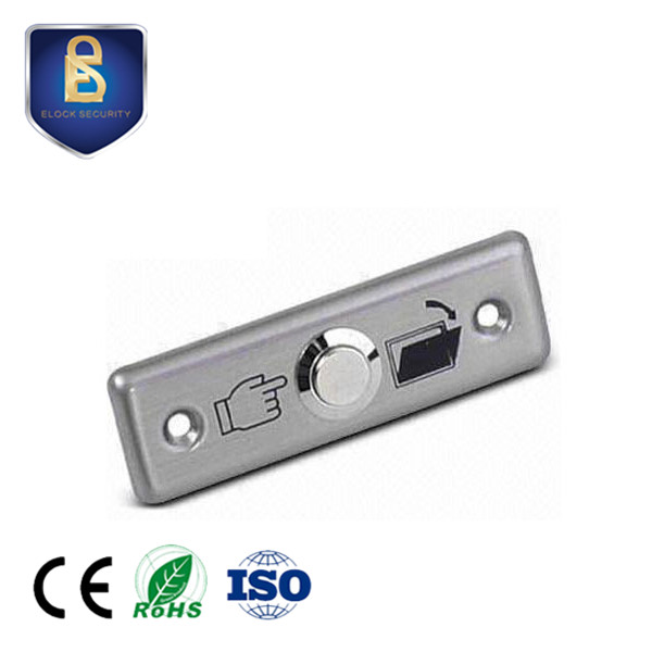 Access Control 2 Pcs Of Mool Aluminum Exit Door Strike Push Release Button Switch Panel For Access Control
