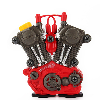 Children DIY Self-assembling Motorcycle Engine Toys Set with Sound
