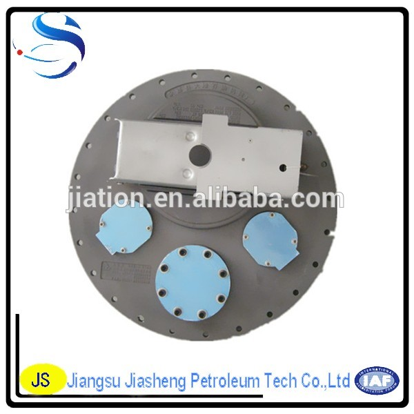 Aluminium alloy /Stainless Steel Manhole Cover For Top Loading Fuel Tanker/Aluminium 20 Inch Four Holes Manhole Cover