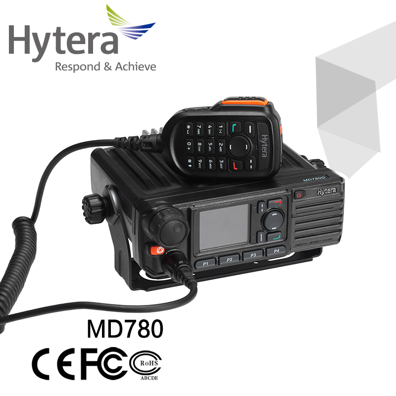 Hytera md780 vehicle mouted 1024CH two-way radio 25W/45W digital long range walkie-talkie