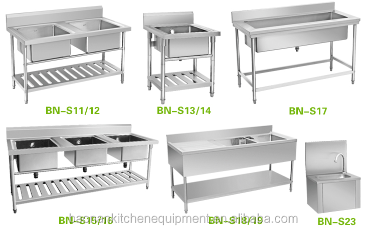 Elegant Stainless Steel Apron Double Bowl Under Bar Sink Bench With Under Shelf And  Drain Board