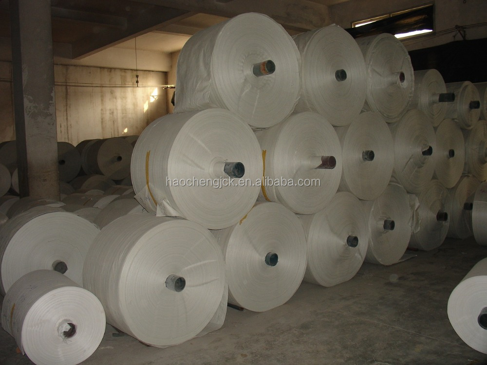 white color pp woven fabric roll