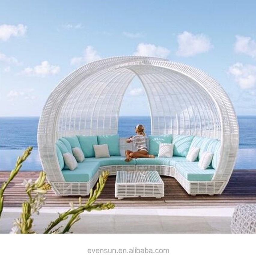 Elegant Outdoor Beach Rattan Daybed - Buy Round Rattan Daybed ...