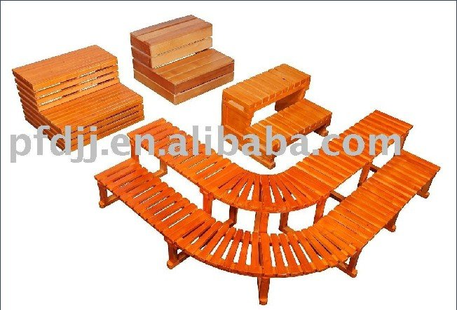 2015 Outdoor Hot Spa Solid Hemlock Wooden Step