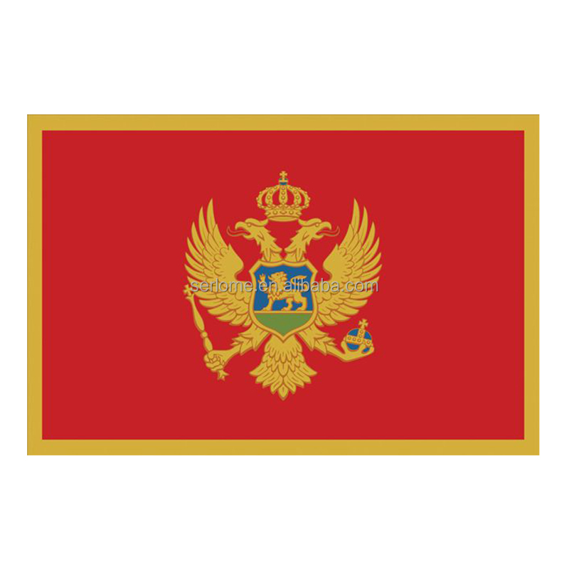 Custom Made Montenegro Flag Badge From Producer