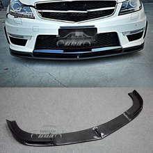 Front lip splitter carbon fiber 범퍼 bottom 턱 앞 범퍼 립 스포일러 대 한 Mercedes Benz <span class=keywords><strong>W204</strong></span> C-CLAS <span class=keywords><strong>C63</strong></span>