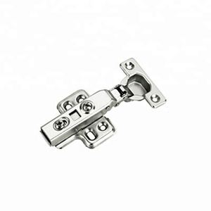 Top quality clip on iron full overlay hydraulic cabinet furniture hinge with soft closing