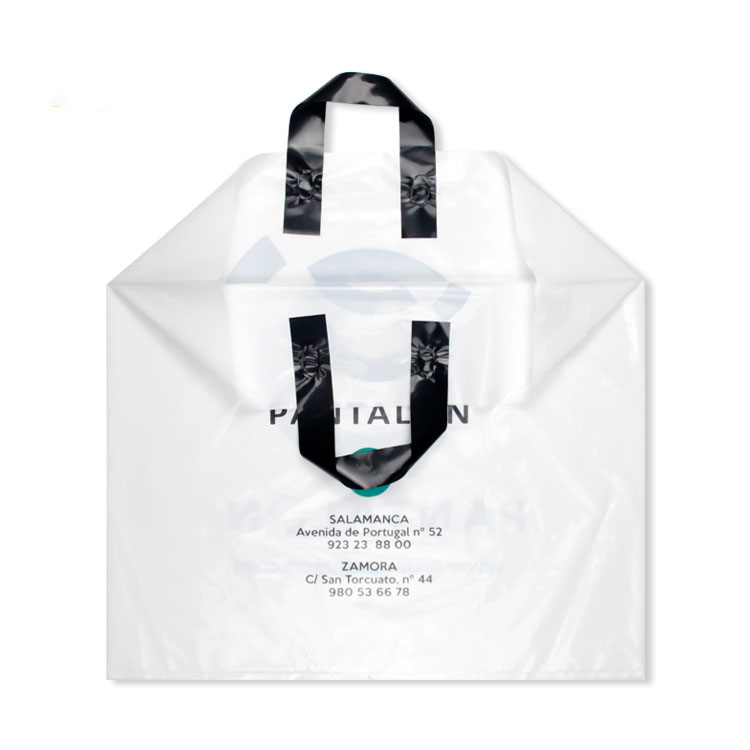 eco friendly Colorful Printing  Cheap Soft Loop Handle custom Shopping bags with logo,custom plastic bag
