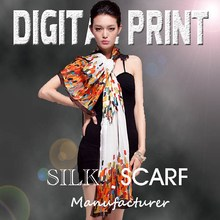 Amazing digital printed silk scarf, Bright vivid colors, Focus on the high-end market-Z12