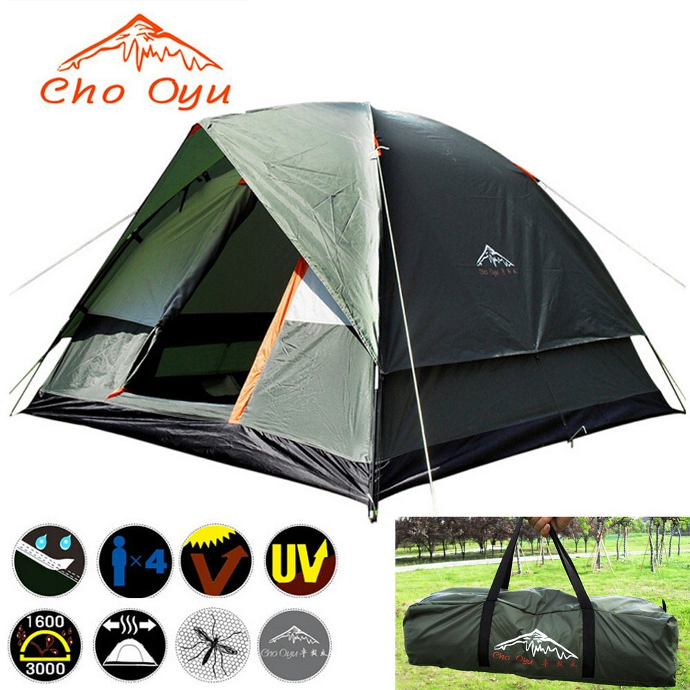 Cho Oyu-tent 3,4 Person 2 Layers 2 Rooms Portable for Outdoor Camping