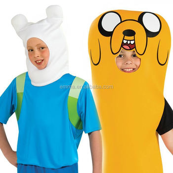 Kids Boys Adventure Time Finn The Human Jake The Dog Cartoon Book Week Outfit Costume BC12419  sc 1 st  Alibaba & Kids Boys Adventure Time Finn The Human Jake The Dog Cartoon Book ...