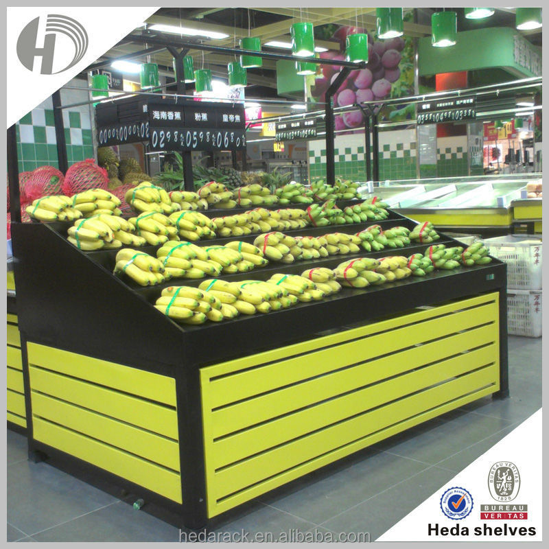 supermarket vegetable fruit display stand rack