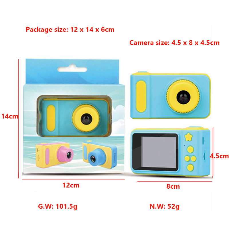 Promotion Gift 2 inch LCD Screen HD 720P VGA Mini Camera Toy Kids Digital Camera For Kids Children