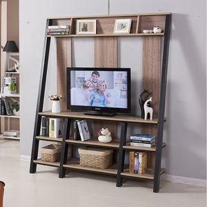 industrial style tv stand furniture living room wooden modern design metal tv stand