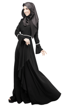 Arabische <span class=keywords><strong>vrouwen</strong></span> gewaad musilm lange mouw jurk gown <span class=keywords><strong>vrouwen</strong></span> islamitische kleding <span class=keywords><strong>abaya</strong></span>