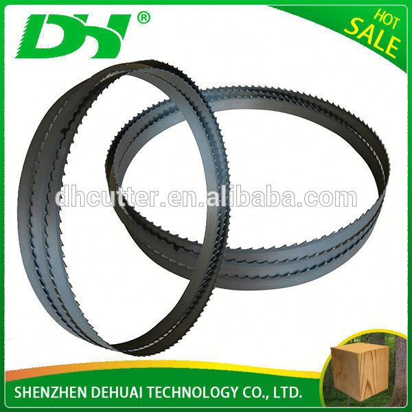 Tungstan carbide tip alloy steel bandsaw blade for hardwood
