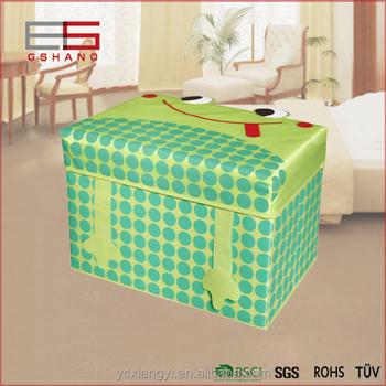 Superbe Premium Safari Froge Collapsible Toy Storage Box Cube Ottoman And Closet  Organizer For Kids   Cushion
