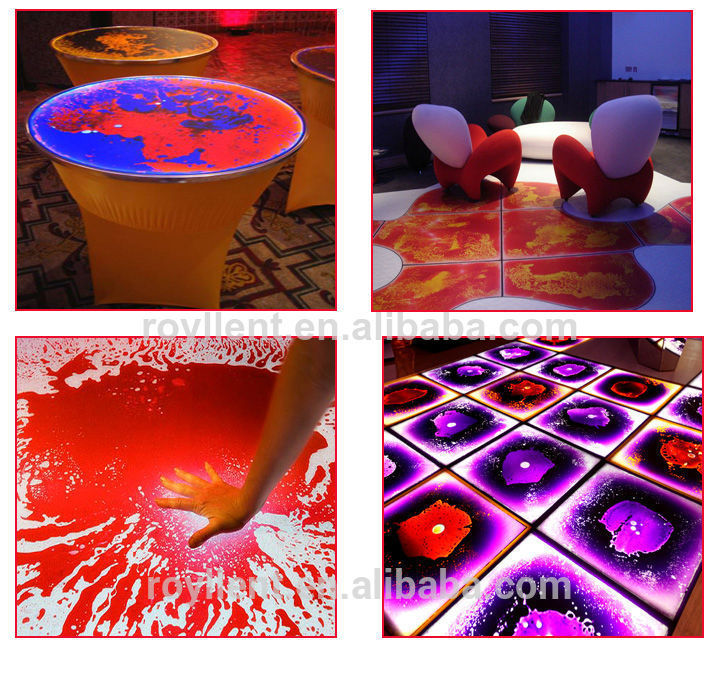 2015 hot sale with SGS certificate interactive led dancing tile