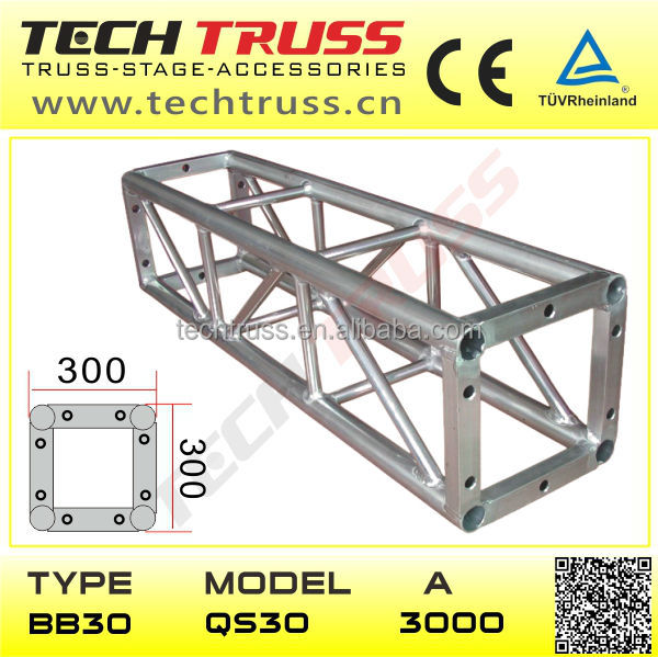 12 Inch Aluminium Bolt Truss , Box Truss