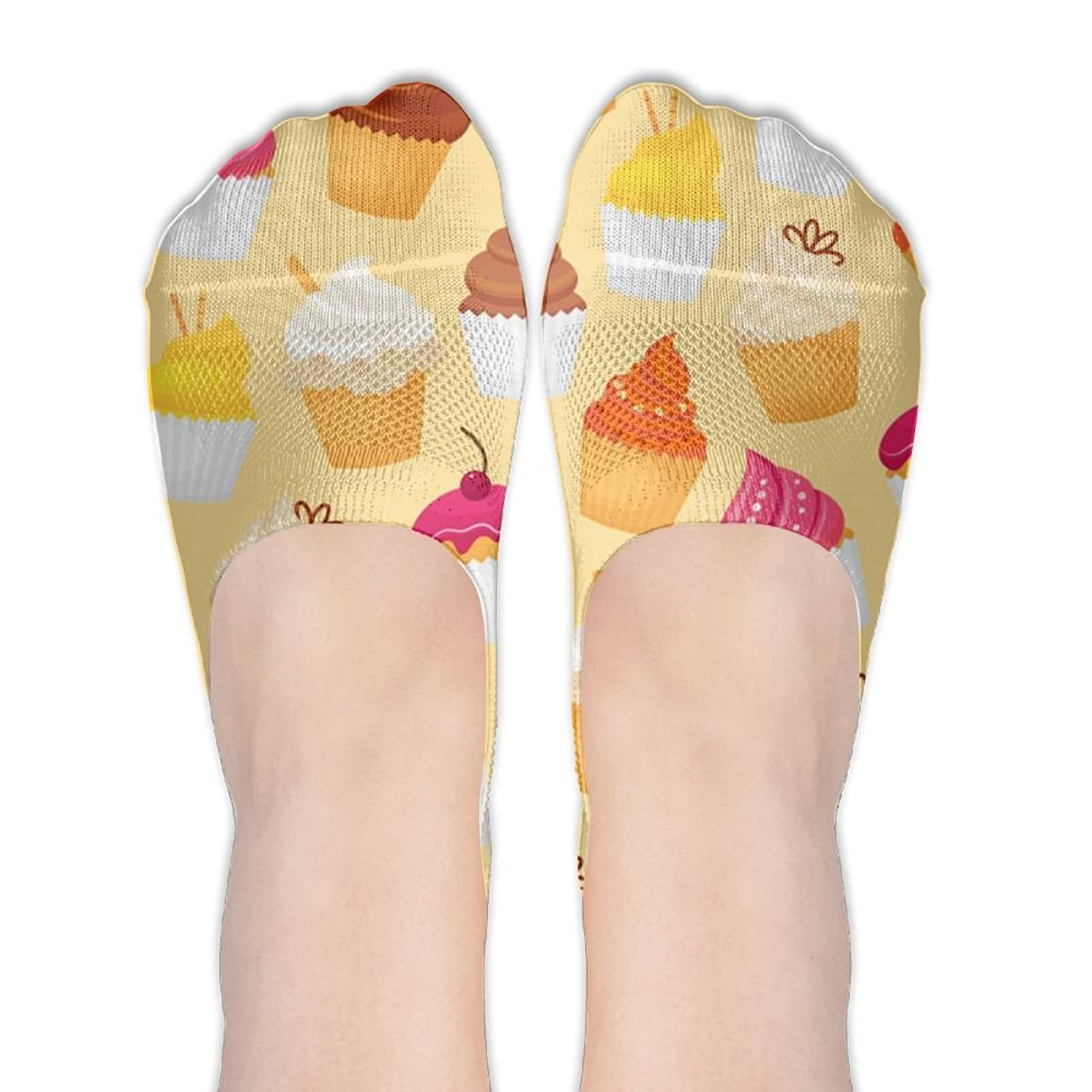 Womens Cake Bread Cookie No Show Socks Casual Low Cut Invisible Elastic Socks