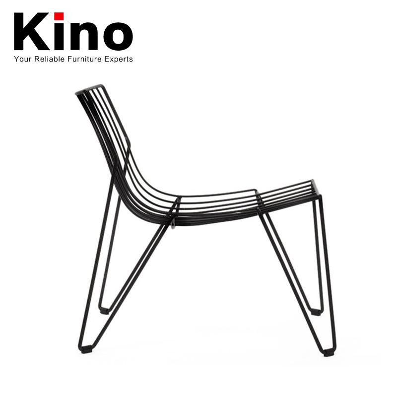 moderne forte fil de m tal solide cour chaise patio mobilier d 39 ext rieur pour barbecue en plein. Black Bedroom Furniture Sets. Home Design Ideas