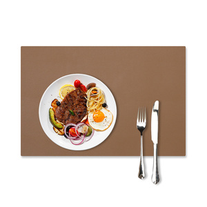 Wholesale Luxury Christmas Baby Faux Leather Blank Placemat For Kids