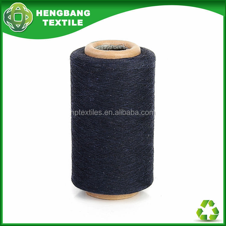 Ne 20s 2 ply black colour cotton sock yarn suppliers HB741 China