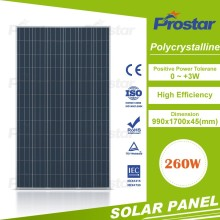 Top 1 supplier 260 watt solar panel poly manufacturer from china