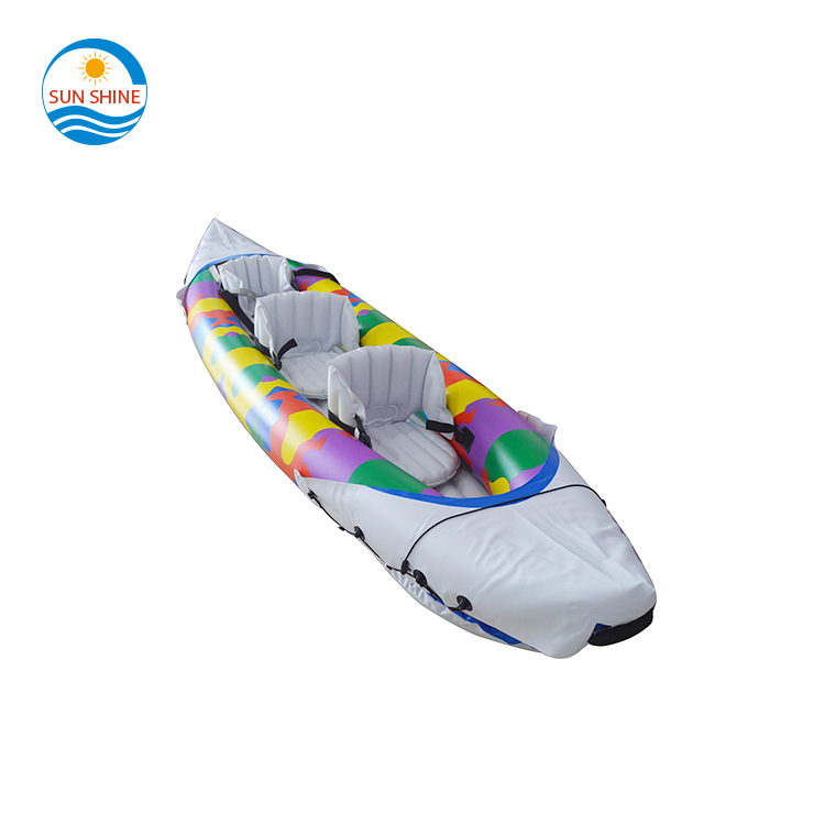 Inflator Summer River Activity Water Sport Inflatable Boat 3-Person with Oars