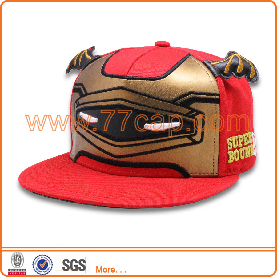 PU leather and acrylic snapback cap Cartoon adult cute animal hats