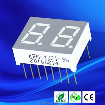 Led Common Anode Gray red white 0.4 Inch 7 Segment Led Display 2 Digit