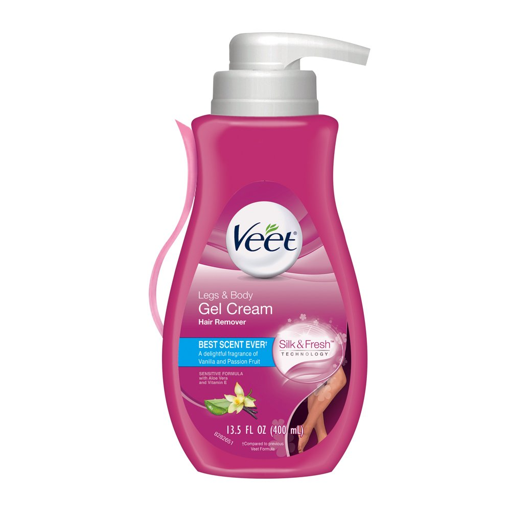 Veet Gel Hair Remover Cream, Sensitive Formula, 13.50 Ounce