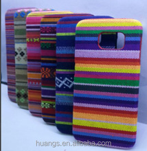 New PC+Fabrics/cloth phone hard plastic cell phone cases for Samsung Galaxy S6 with retro style