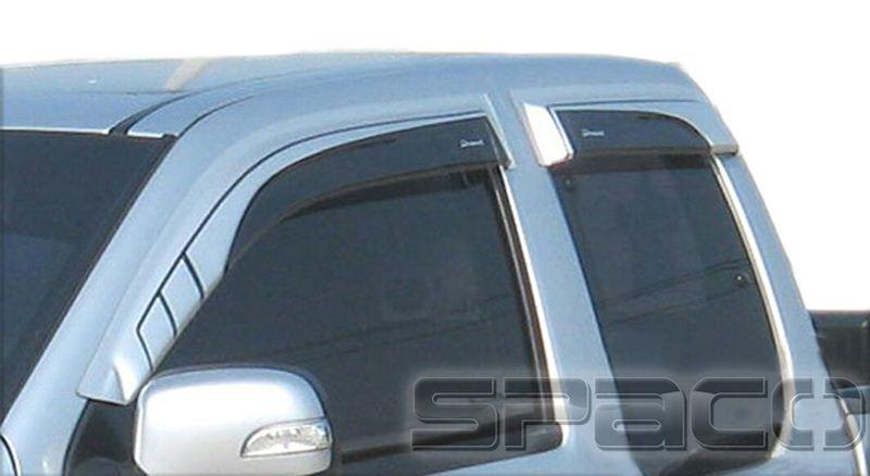4 x 4 accessoire de voiture de pluie bouclier pare soleil porte fen tre d flecteur pour. Black Bedroom Furniture Sets. Home Design Ideas
