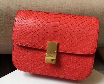 Luxury Exotic leather women handbag ladies genuine python skin bag