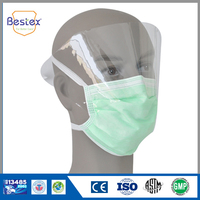 Factory Quality Anti-Fog Disposable Face Mask With Eye Shield