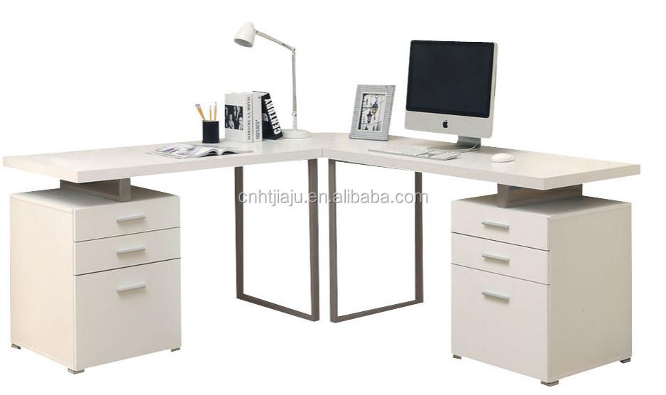 White Monarch Specialties 3 Piece Hollow-core L Shape Home Office Desk Set  - Buy L Shape Office Desk Set,3 Piece Hollow-core L Shape Home Office Desk  ...