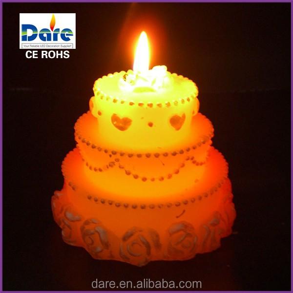 Magic Unique Birthday Cake Shape Candle