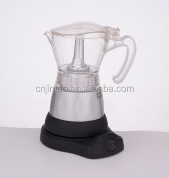 Europe Colorful PC up pot Electrical function espresso Moka coffee maker 4 cups