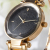 custom logo fashion watch, Black gold minimalist alloy watch Women fashion wristwatch Richports
