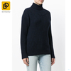Wholesale women clothing fashion high collar cropped silk-blend turtleneck sweater