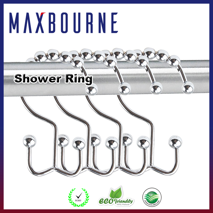 hotselling high quality stainless steel metal Double Glide shower curtain hook