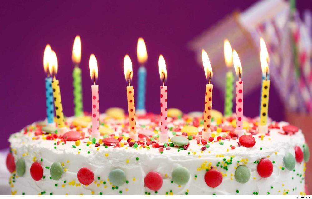Про, открытки свечи торт