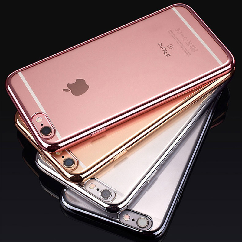 Electroplating Soft TPU Case For Samsung Galaxy S6 S7 EDGE NOTE 4 5 Bumper Cover, case for apple iphone7