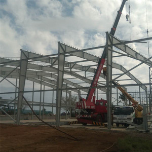 AISC/EN1090 Factory worshop galvanized steel structure shed