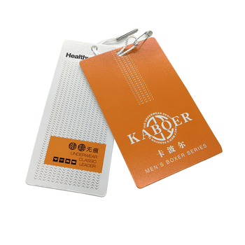 Printing Embossed Paper Thread Price Hang Tag With Cotton String