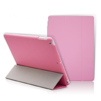 Smart leather case And PC Back Cover Case Smart Cover For iPad 2 3 4 Air2 Air mini1 2 3 4