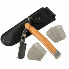 나무 Handle Classical Straight Razor 면도 Razor 이발사 Razor