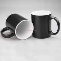 Sublimation Magic color changing mugs/ wholesale price 11oz Matte Color Changing Mugs