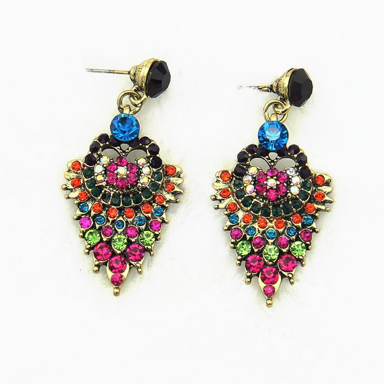 beautiful indian style earrings pendant beaded earrings indian ...
